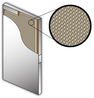 Honeycomb Door